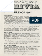 Avalon Hill Game Company's Game of Trivia Rules