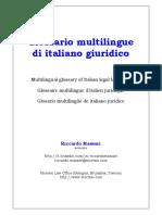 Glosario de italiano - diverso