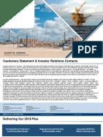 Murphy Oil Corporation Third Quarter 2018 Conference Presentation
