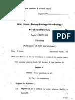 B.sc. (Hons.) Botany Zoology Microbiology Bio-chemistry I Sem. Paper CHCT-301 Chemistry