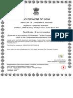 01) SSPLTech. - Certificate of Incorporation
