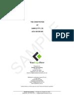 Constitution for Sample Pty Ltd