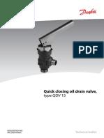 Quick Closing Oil Drain Valve, Type QDV 15