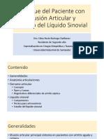 1. Enfoque del Paciente con Derrame Articular y Estudio del liquido sinovial.pptx
