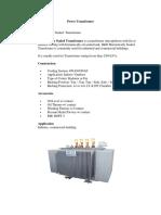 Power DistributionTransformer