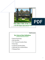 Federal Reserve Monetary Poilicy and Interest Rates