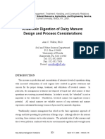 Anaerobic Digestion - Dairy Manure - Choice and Selection