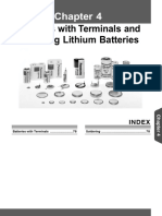 Li Batteries Soldering AAA4000COL21