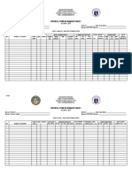 Sample PFT Summary Form