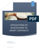 Application of Block Chain to Smart Contracts