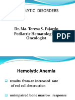 Pedia Hema Hemolytic Disorders