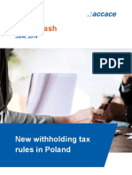 New Withholding Tax Rules in Poland
