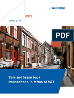 Sale and lease back transactions in terms of VAT