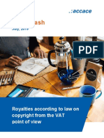 Royalties according to law on copyright from the VAT point of view