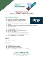 Programme Club Thorax 2019