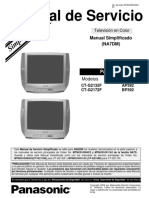 Manual de Servicio. Manual Simplificado (NA7DM) Panasonic. Televisión en Color