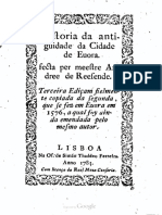 Historia da Antiguidade da cidade de Évora