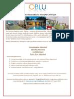 Job Poster - 26.07.2019 ( H.K ,Pool, Laundry,Public Area Attendant)