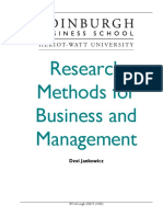 Research Methods Business Management Course Taster