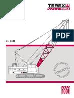 Crawler Crane 100T - Terex CC 400