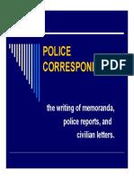 Police Correspondence