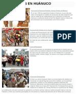 Festividades en Huánuco