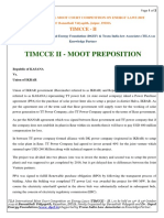 Moot Problem for TIMCCE 2019
