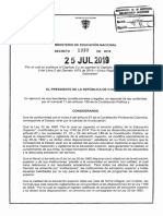 Decreto 1330 Del 25 de Julio de 2019