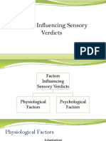 Factors Influencing Sensory Verdicts