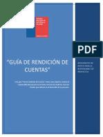 Guia Para La Rendicion de Cuentas 2016