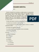 Examen mental de psicología