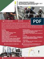 Curso Rescate Técnico en Espacios Confinados Nivel i II