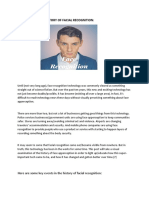 History of Facial Recognition