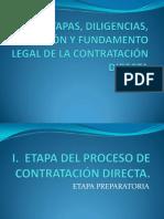 Etapas, Diligencias, Duración y Fundamento Legal