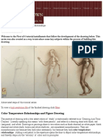 Color temperature in drawing