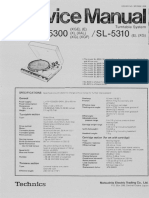 Technics SL 5300 5310 Service Manual