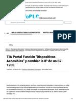 Cambiar La IP de Un S7-1200 - InfoPLC
