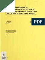 Fracture Mechanics Characterization