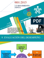 ISO 9001 2015 Capitulo 9 y 10