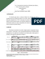 Análise Formal Sobre o 1º Movimento Do Concerto Em Dó Maior Para Oboé e Coras