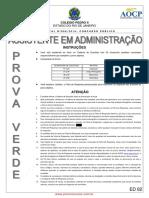 Prova Tecnoadminisdtrativo Colégio Pedro II