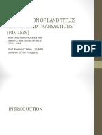Registration of Land Titles1