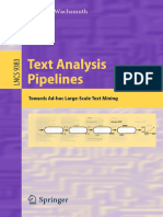 Text analysis in large scale text