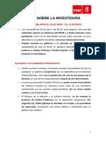 Comunicado PSOE Investidura Fallida 26072019