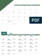 Calendario académico Paquete de horas(Alberto Hernández)
