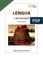Libro de Lengua 2 Bachillerato 2018-19