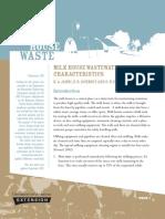 Milkhouse Wastewater Characteristics