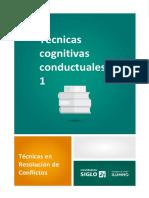 Técnicas Cognitivas Conductuales 1