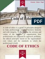 ChE Code of Ethics