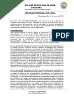 RESOLUCIÓN 82-2019 Aprueba Bases